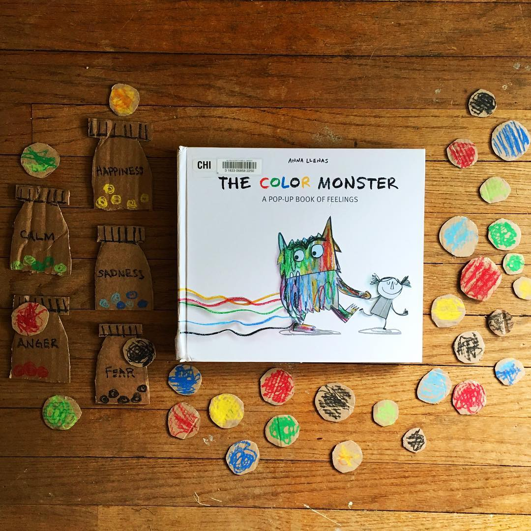 The Color Monster  by Anna Llenas  Explores several basic feelings, including fright, anger, and sadness