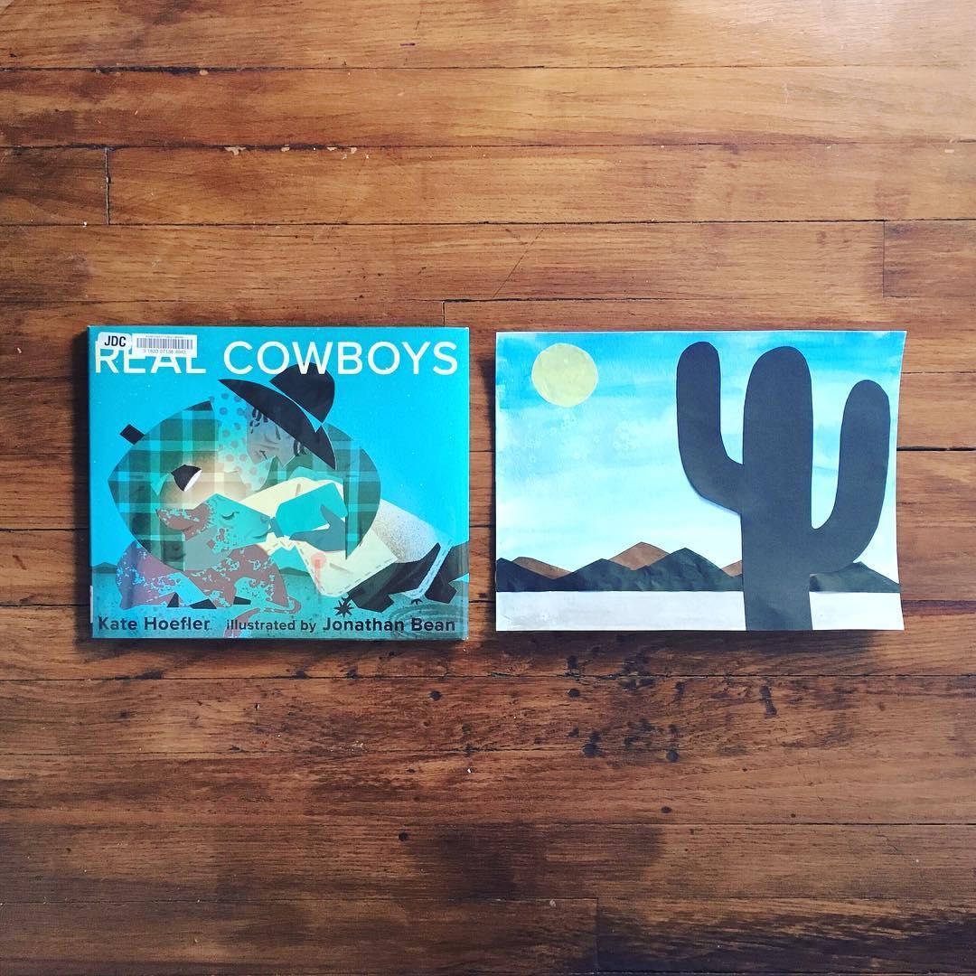Real Cowboys by Kate Hoefler illustrated by Jonathan Bean  Real cowboys have feelings!