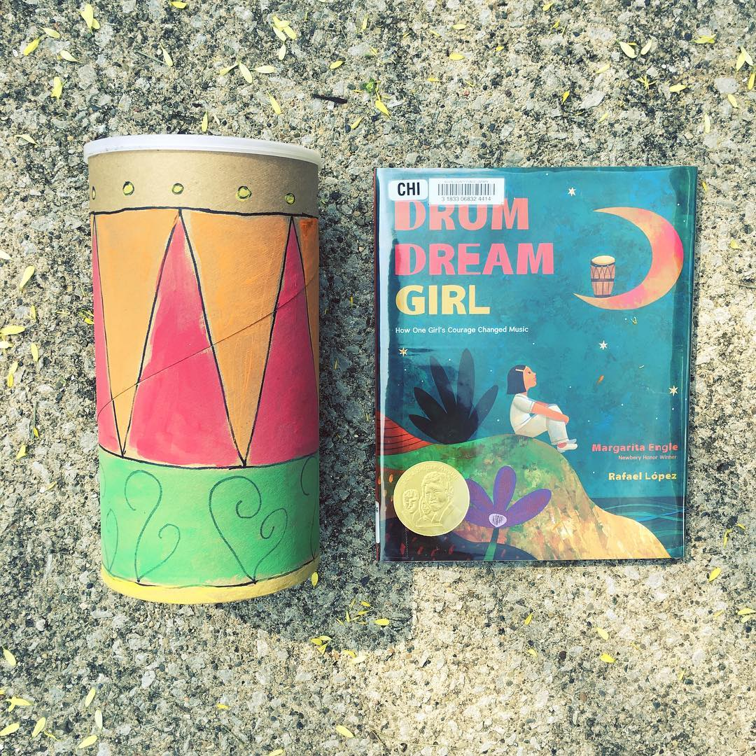 Drum Dream Girl by Margarita Engle illustrated by Rafael Lopez