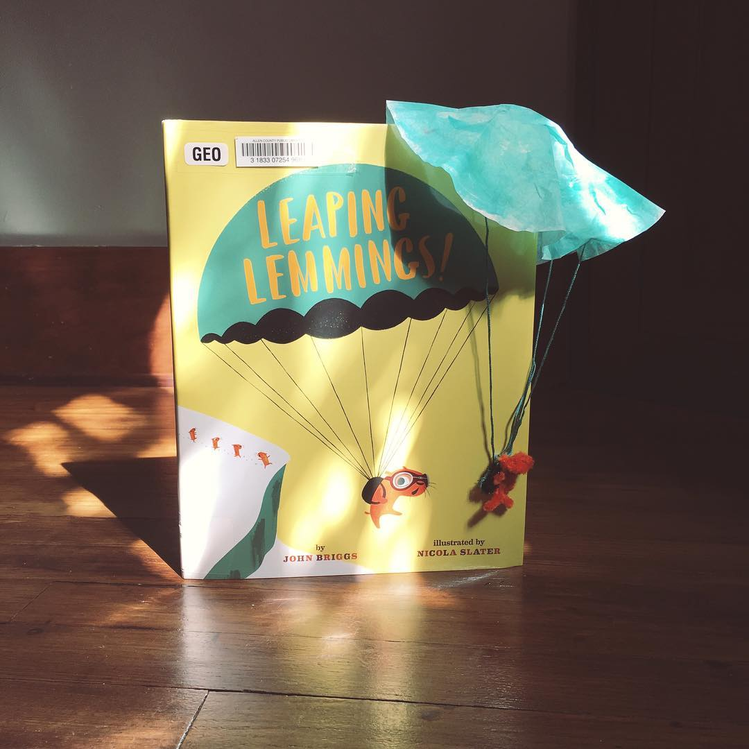 Leaping Lemmings! by John Briggs illustrated by Nicola Slater