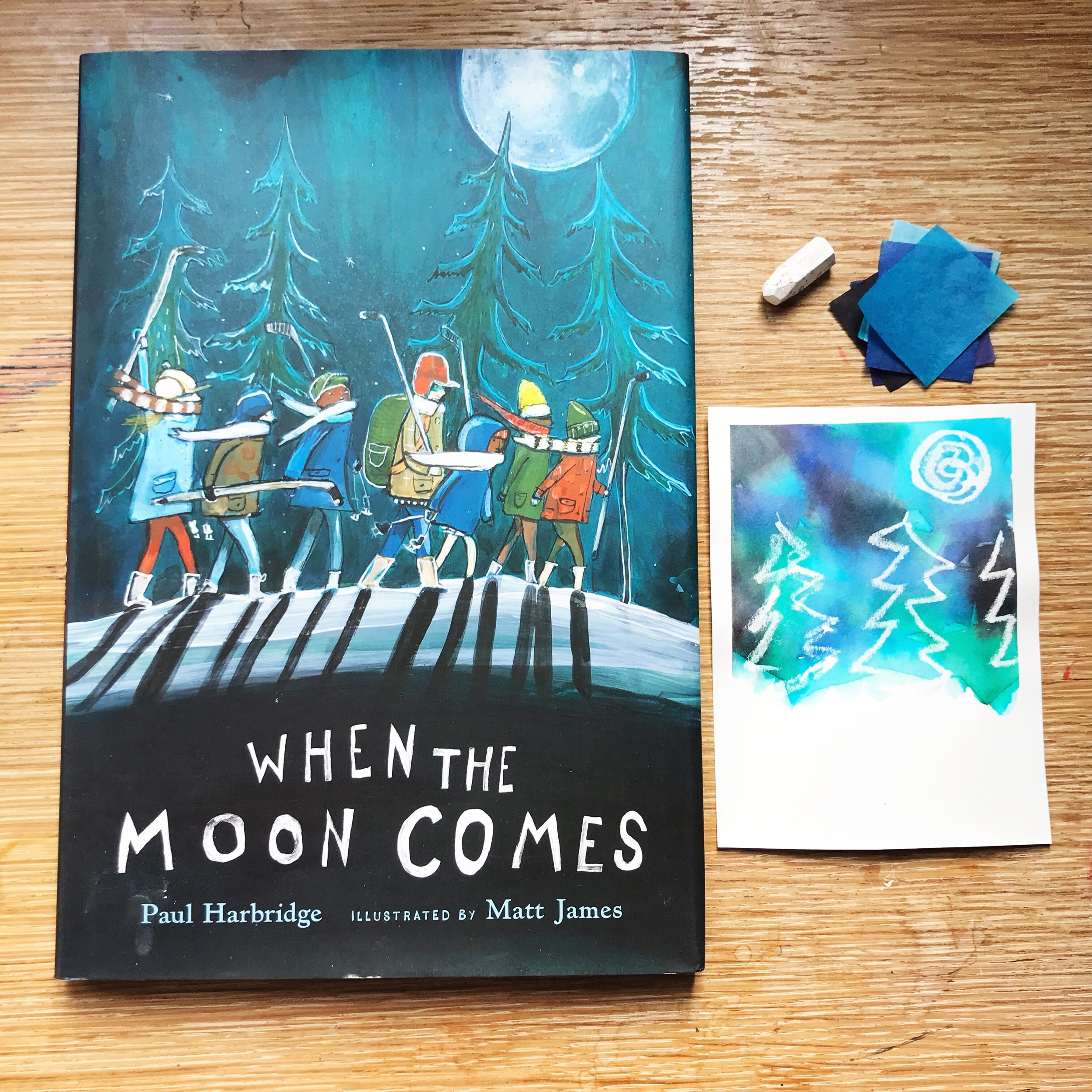 When the Moon Comes  by Paul Harbridge illustrated by Matt James