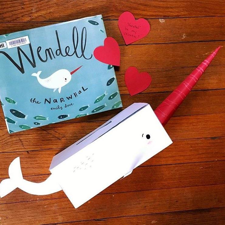Wendell the Narwhal  by Emily Dove  Though not specifically about love, I had to include this book because it features one of my favorite Valentine's Day crafts!