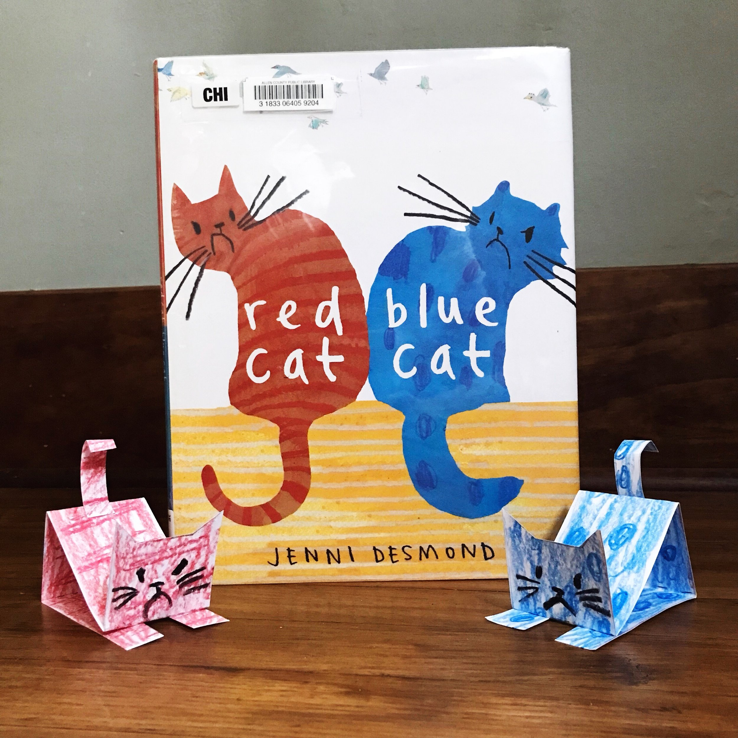 Red Cat Blue Cat  by Jenni Desmond