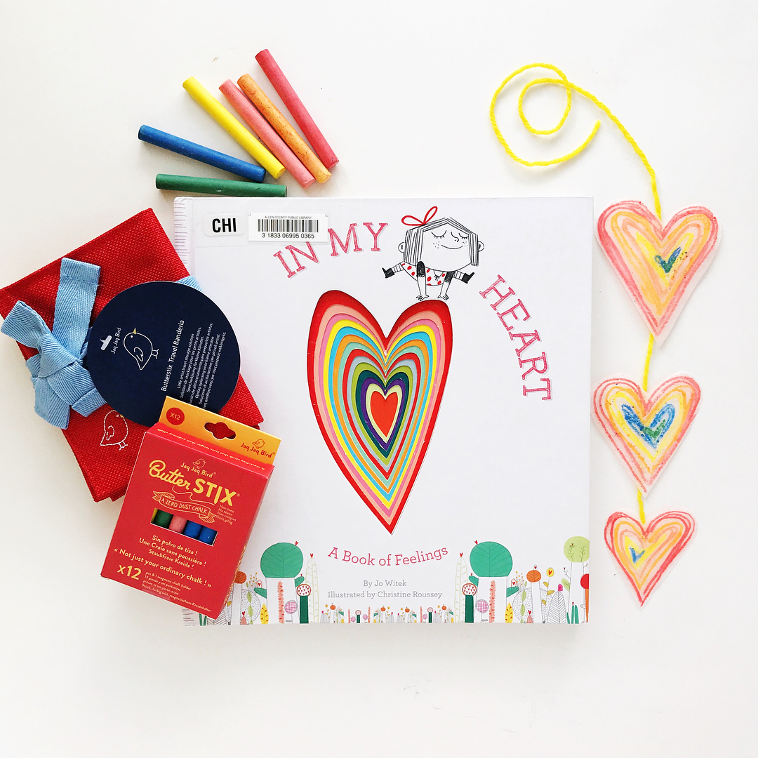 In My Heart: A Book of Feelings  by Jo Witek illustrated by Christine Roussey  An accessible primer of various feelings