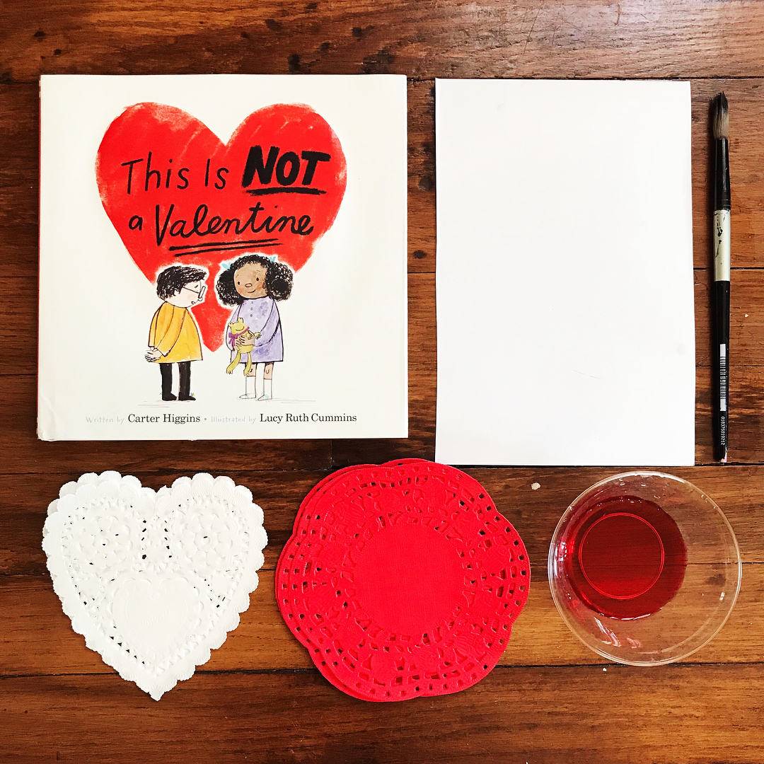 This is NOT a Valentine  by Carter Higgins illustrated by Lucy Ruth Cummins