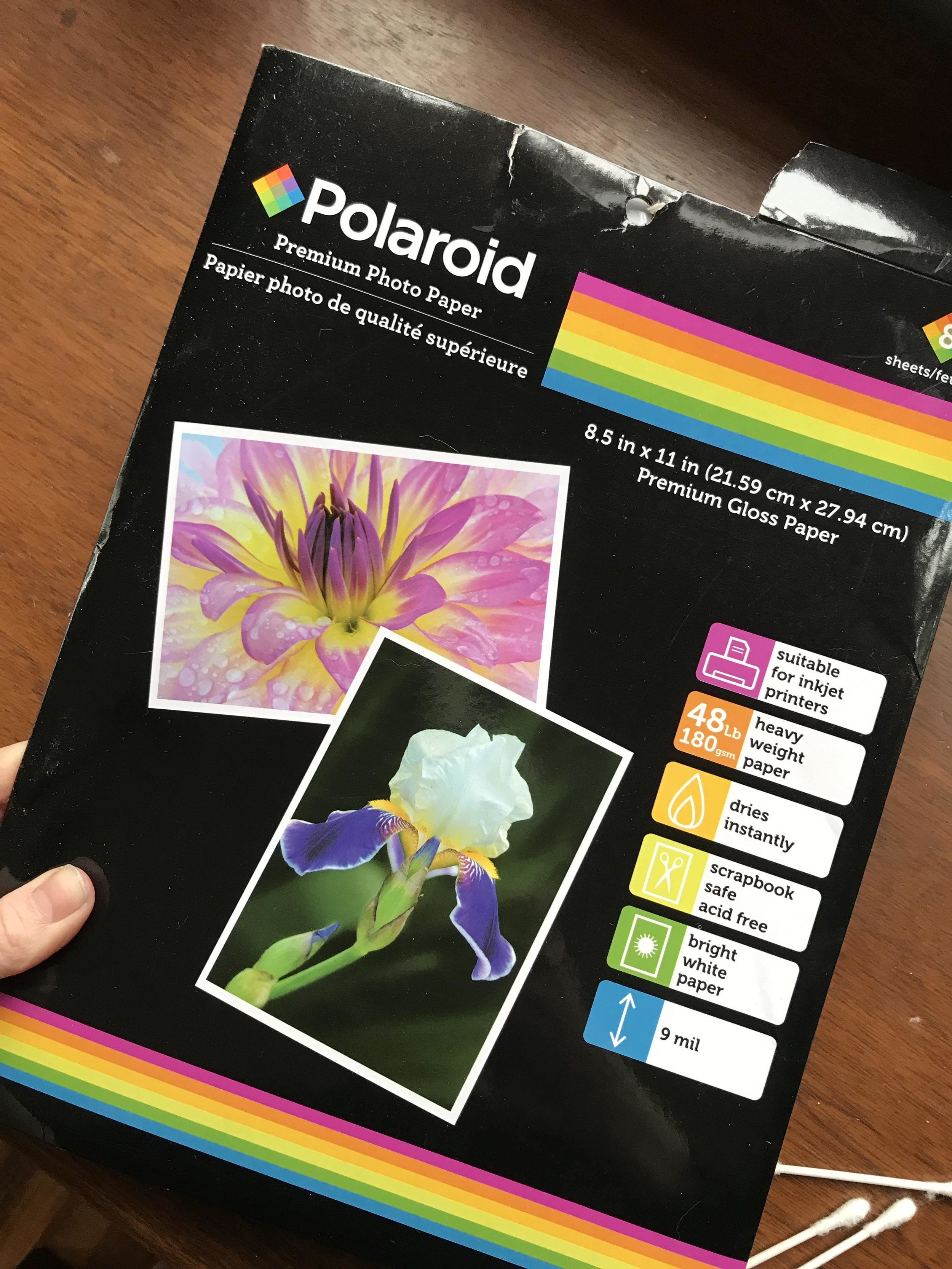 8 sheets per pack for $1.  I usually cut them in half or quarters for the projects we do… it's a fun way to make your regular water color a little more exciting too!