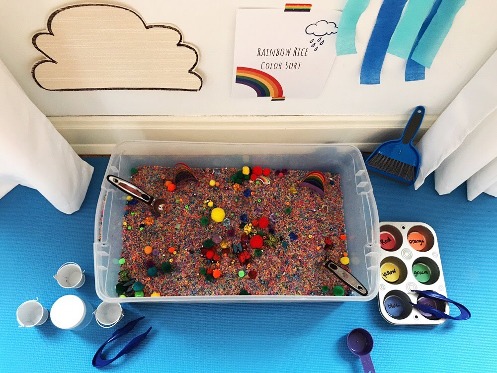 Rainbow Rice Color Sort