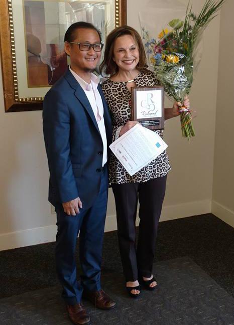 Darlene Rios Drapkin Named 2017 Richmond Chamber of Commerce