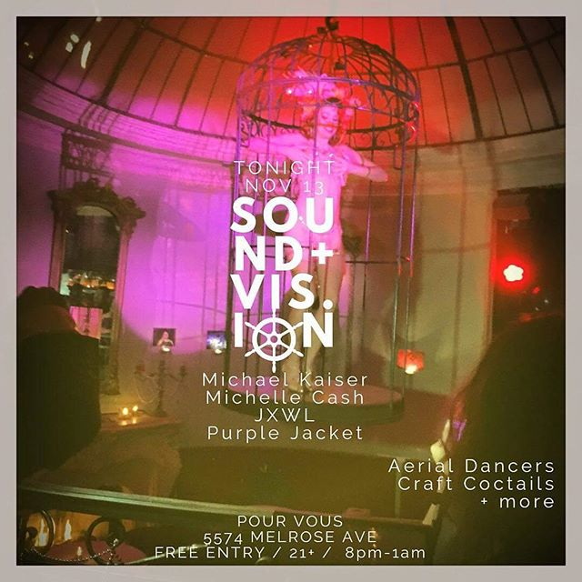 @pourvousla tonight #burlesque #aerialsilks #music #acousticguitar #lanightlife #hollywood