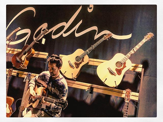@thenammshow supporting our sponsor @godin_guitars! Amazing instruments and just as important, artist relations. Looking forward to 2019! #namm2019 #godin #instruments #artists #aandr #guitar #lapatrie #nylon #blues #pop #classical