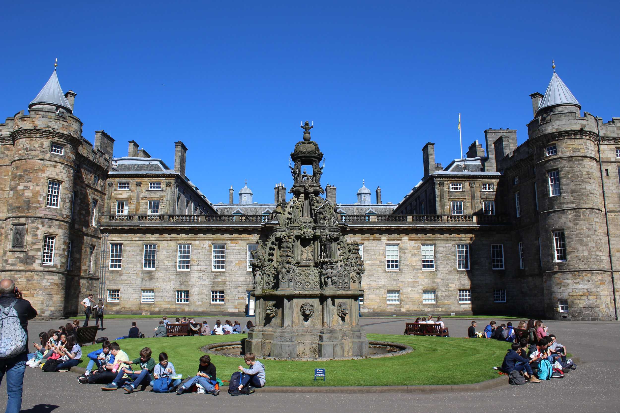 The facade of Holyroodhouse Palace