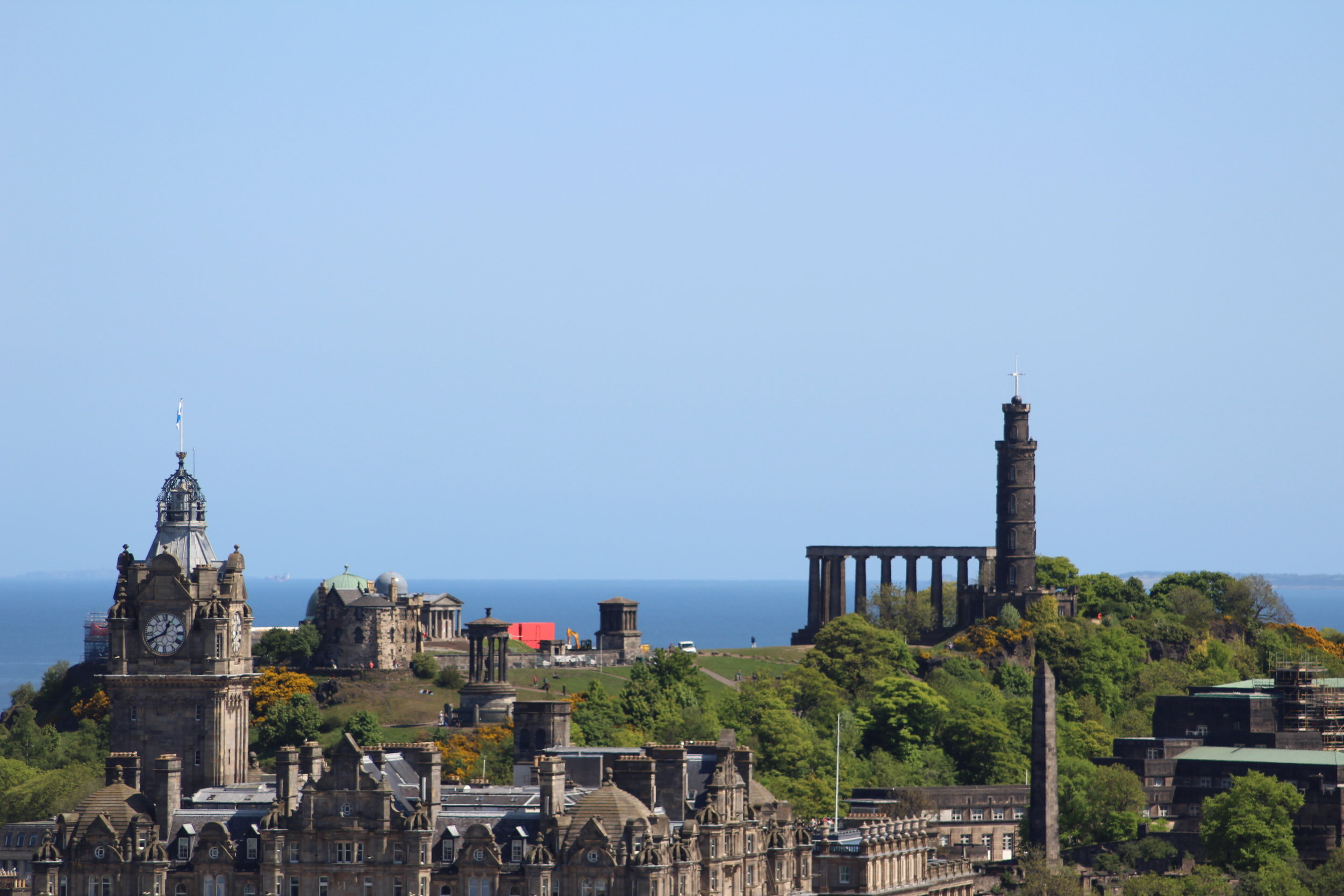 A view over Edinburgh from the Castle