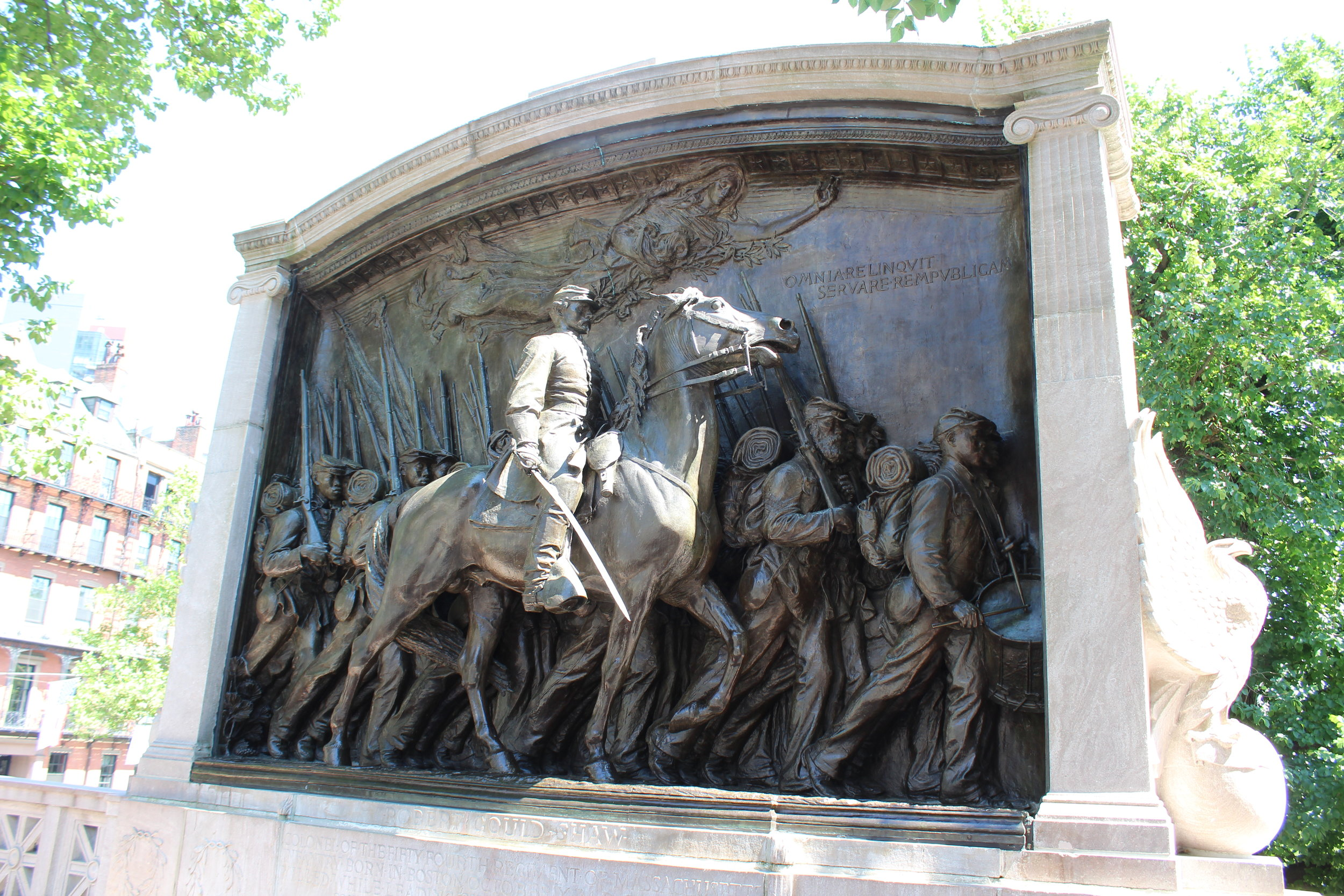 Shaw and Mass. 54th Regiment Memorial