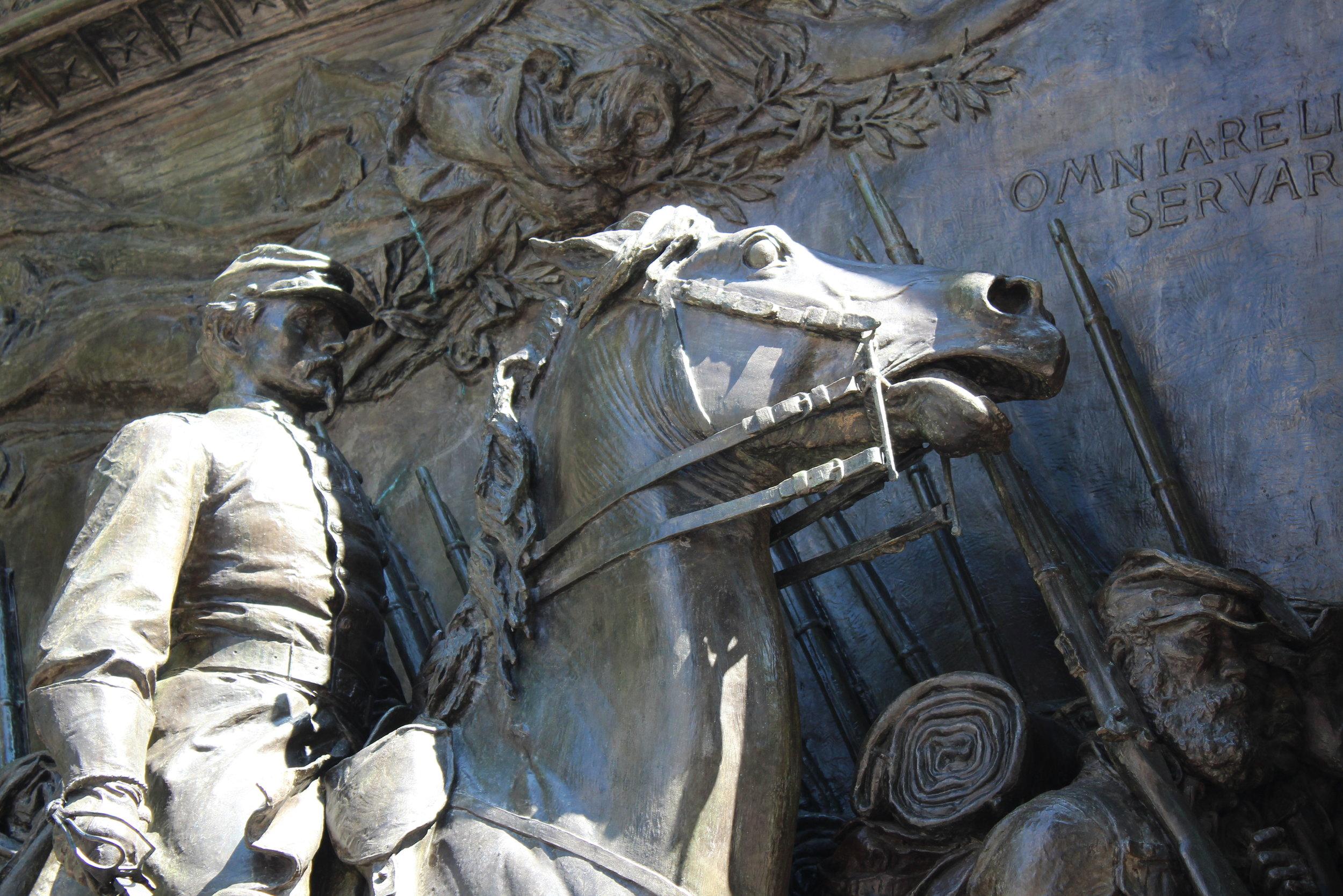 Detail of Augustus Saint-Gardens' work