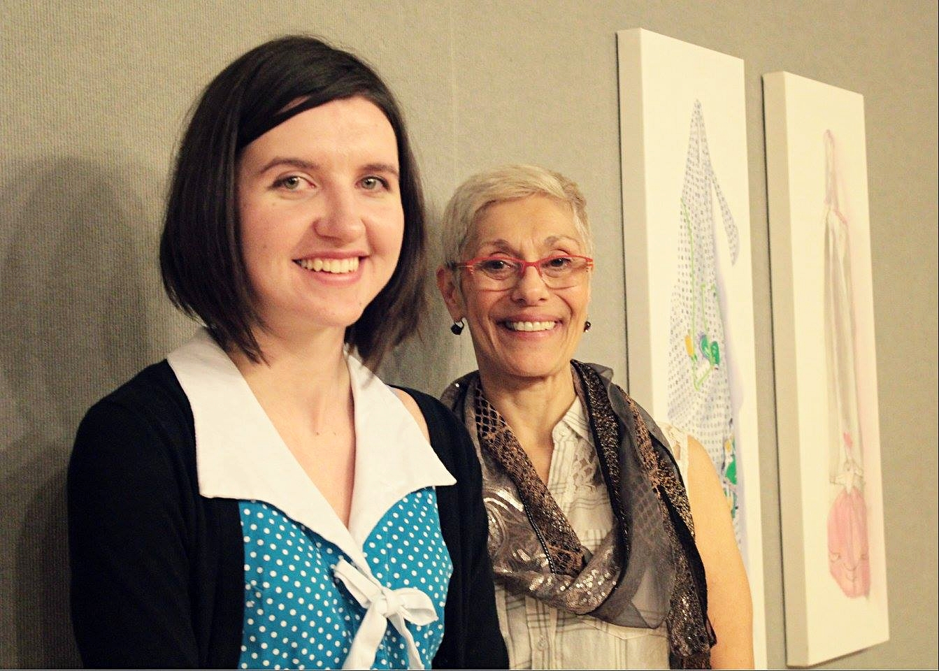 Photo by Jodie Delsere. Featured exhibiting artists - Marissa Solini (Left) and Kathleen Caprario (Right)