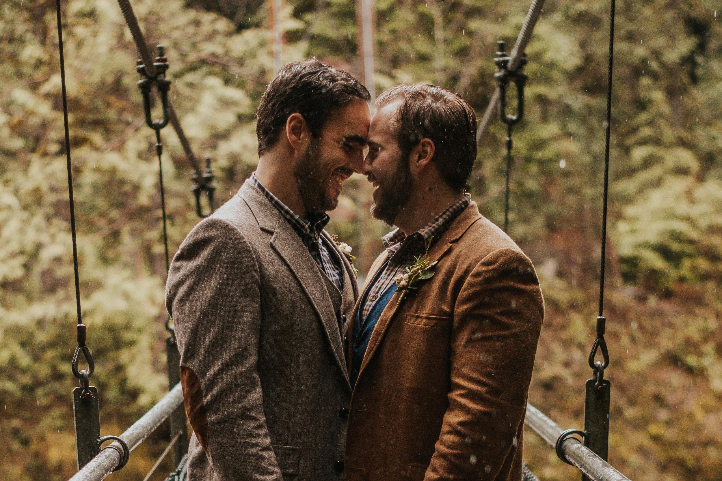 Oregon Forest Elopement Same Sex Couple