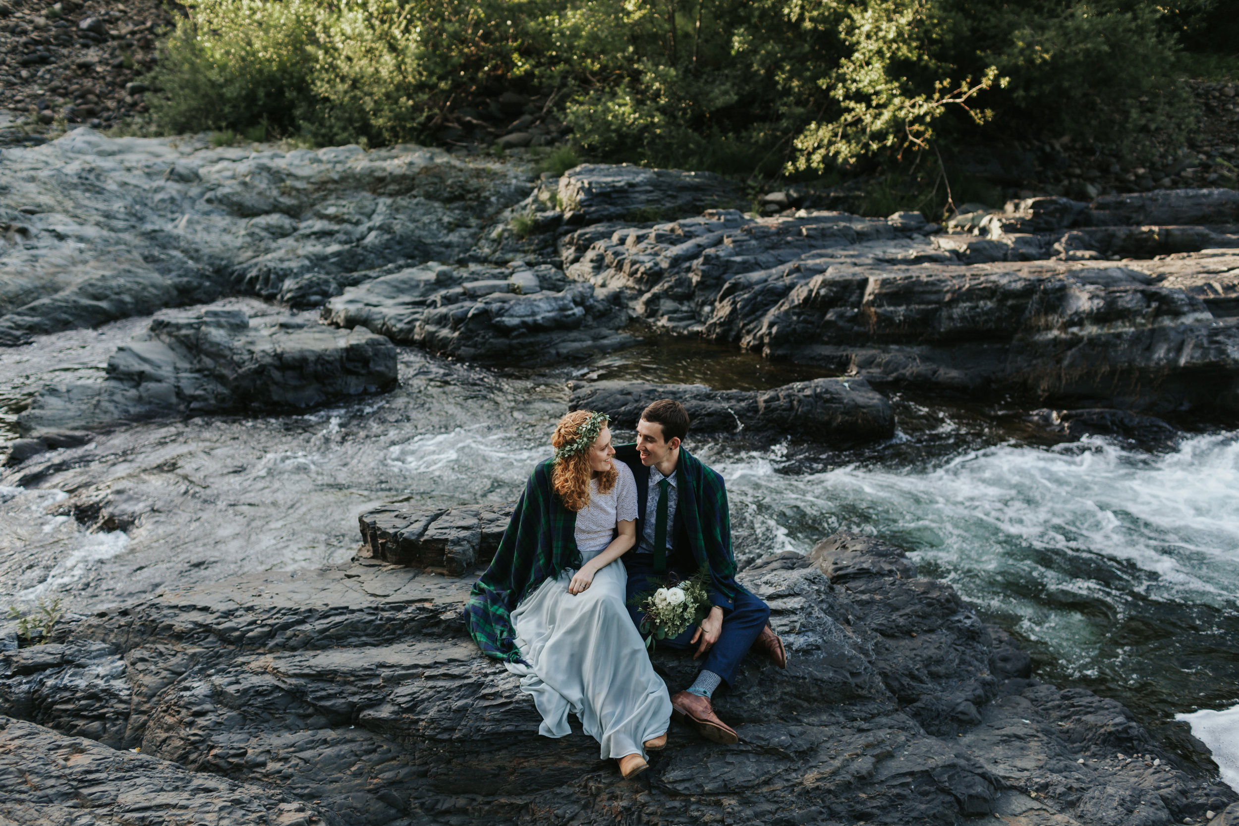 Smith Homestead Forest Wedding - Ragan & Max celebrated a beautiful Summer Solstice wedding in the Tillamook forest. They read their vows by the rushing river in front of their nearest & dearest.Read More