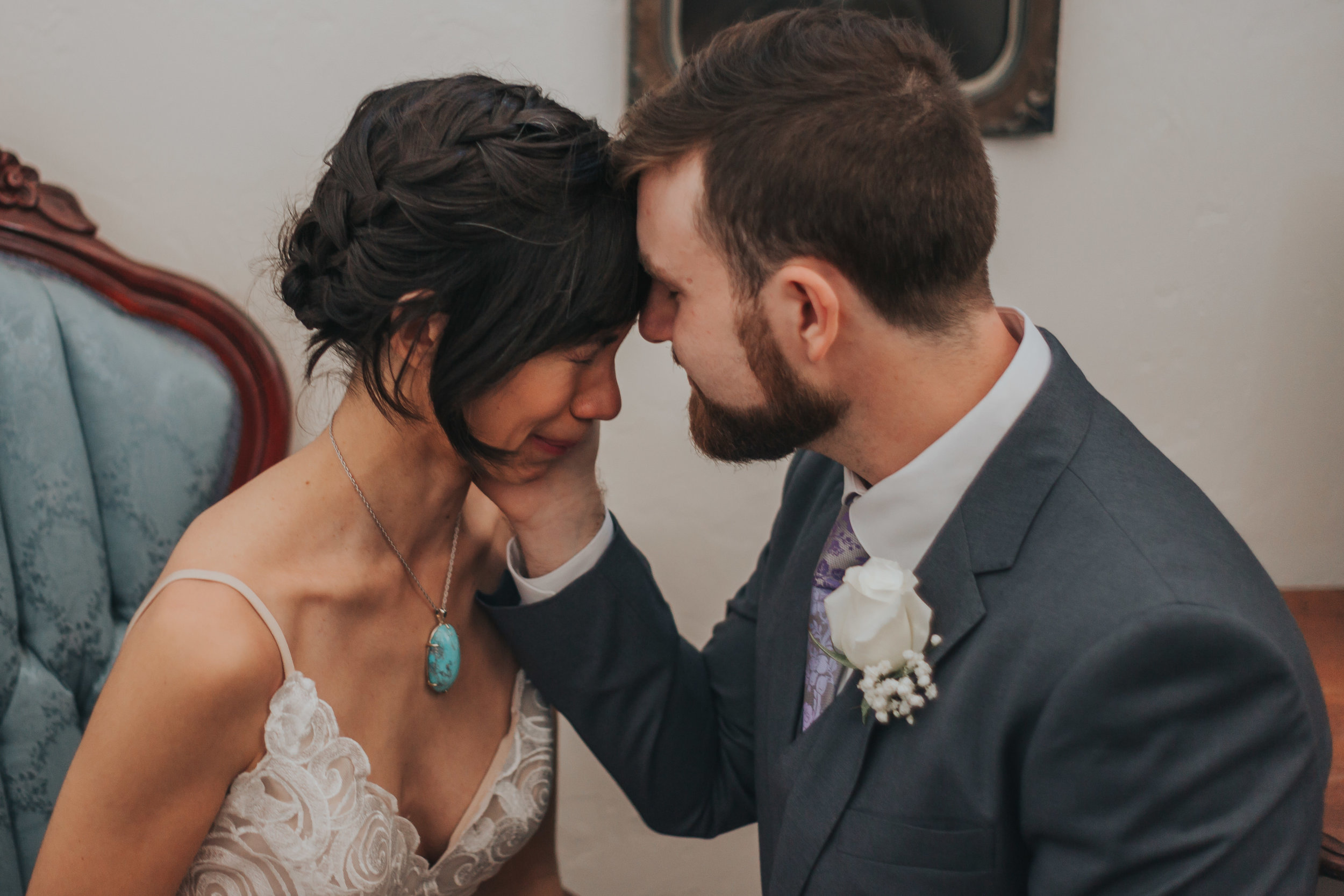 Pennsylvania Bed & Breakfast Wedding - Battlefield Bed & Breakfast was the sun-filled wintry wedding venue in Gettysburg, Pennsylvania that Sabrina and Luke chose for their intimate wedding.Read More