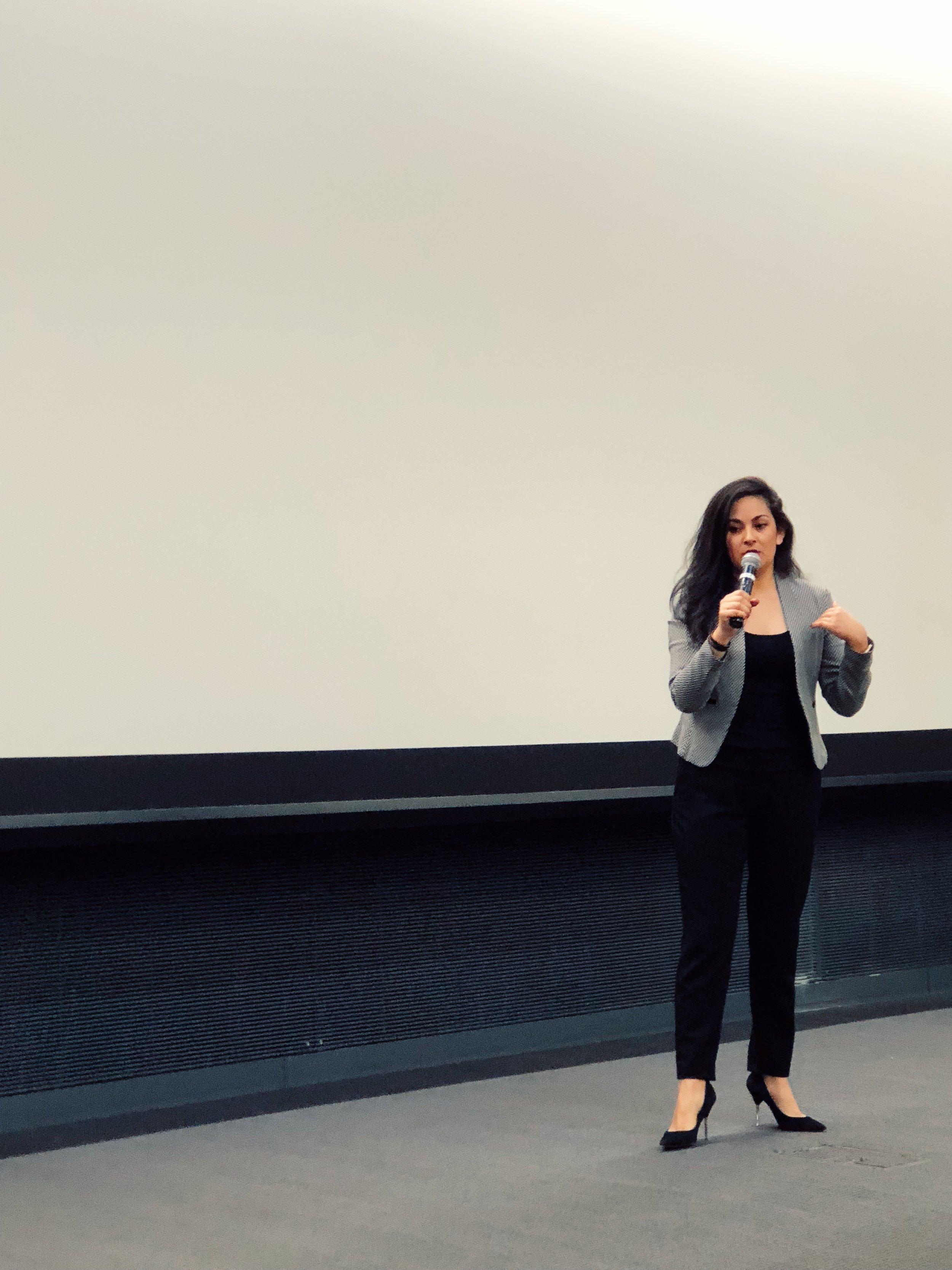 - Eliana Murillo delivering the Keynote