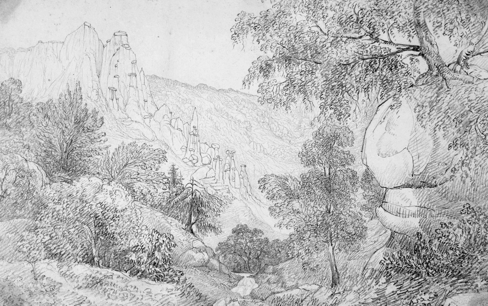 Sir John Herschel, Clay Columns at Stalde-in-the-Visp Thal Valais Sept. 4 1821