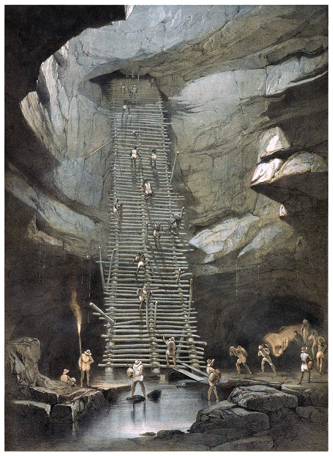 Well of Bolonchen,from Views of Ancient Monuments in Central America, Chiapas and Yucatan 1844