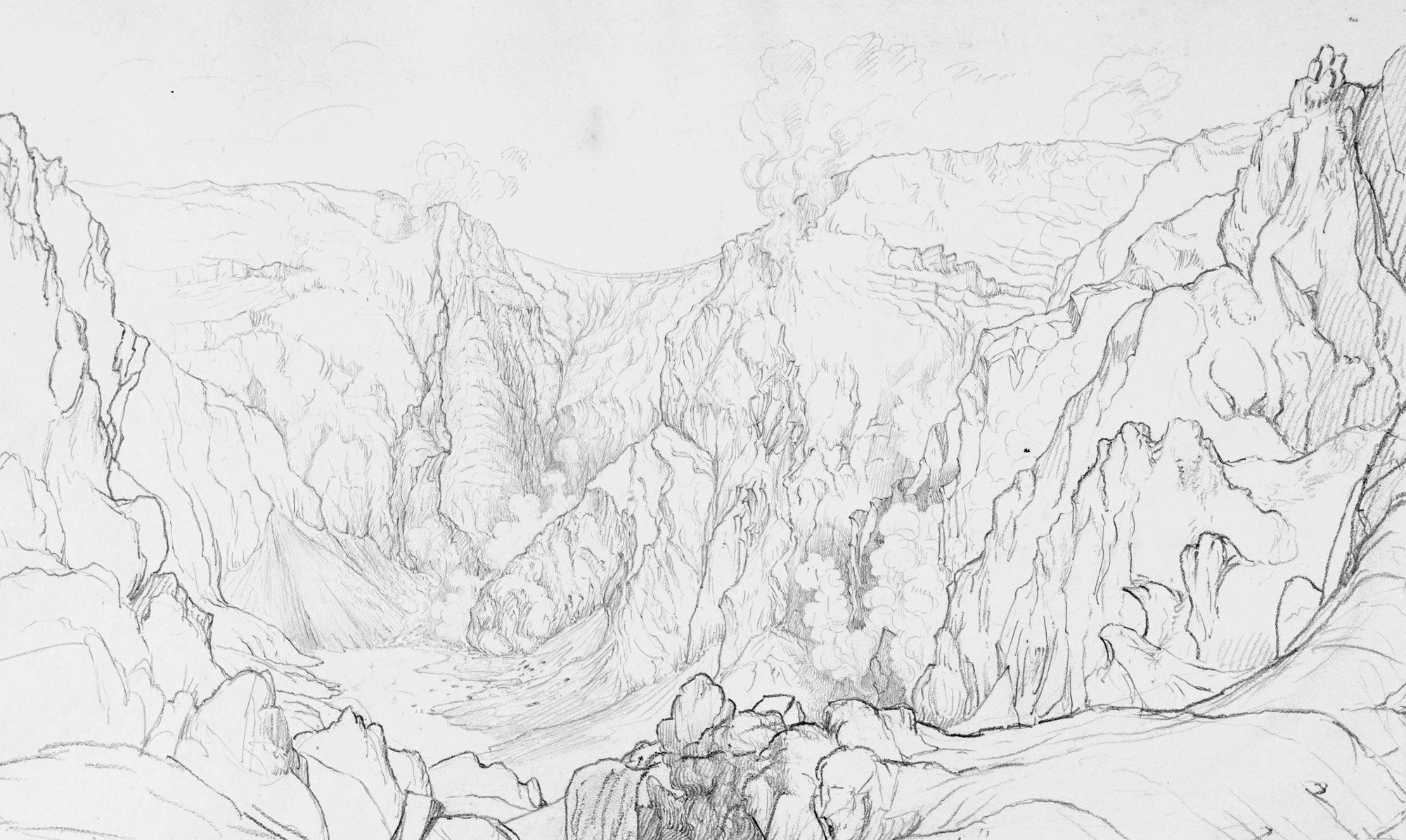 Interior of the Crater of Vesuvius, June 9, 1824