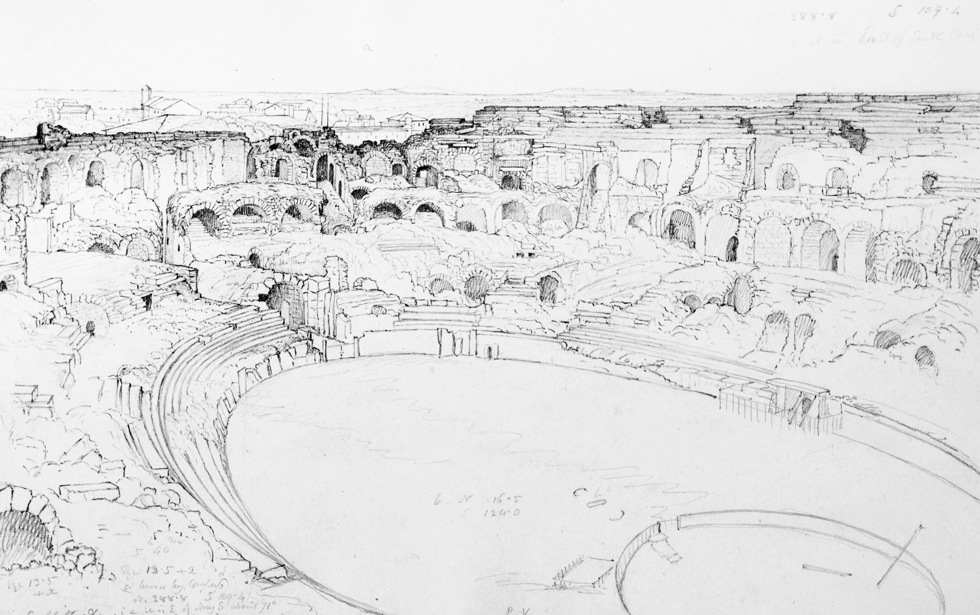 Interior of the Amphitheater at Nimes Sept 21, 1850
