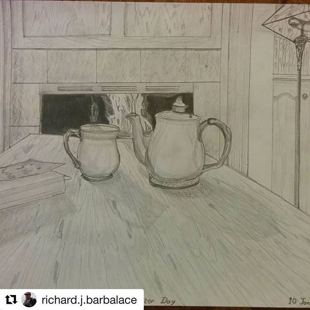 """#Repost @richard.j.barbalace (@get_repost) ・・・ """"Winter Day"""", depicting our home over a week ago during the holiday freeze.  My first sketch with #neolucidaxl."""