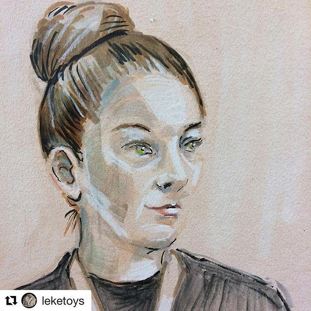 #Repost @leketoys (@get_repost) ・・・ Swipe to se #timelapse #portrait test. Model: the wonderful @eilamaadi - looking forward to #neolucidaxl  workshop with you soon. #drawing