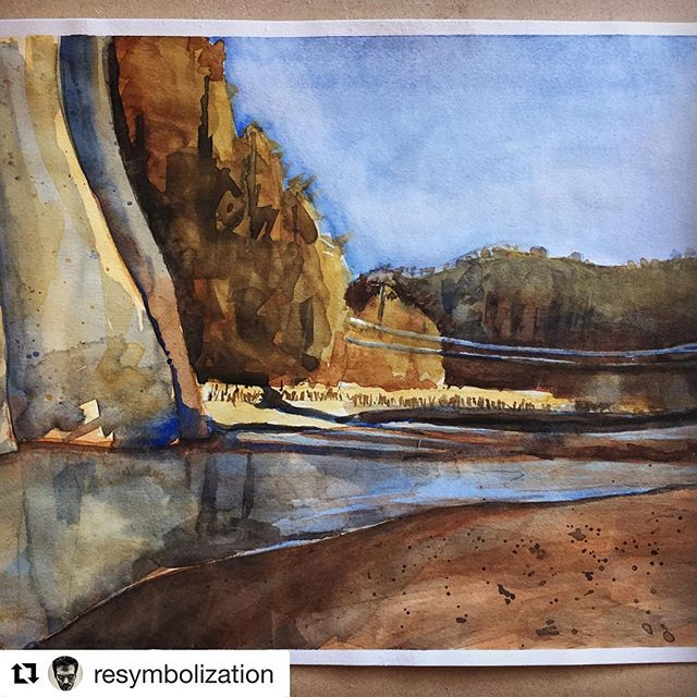 #Repost @resymbolization (@get_repost) ・・・ Open-Air Painter's Club out at Swimmer's Delight today #watercolor #painting #art #pleinair #neolucida #river #humboldtcounty
