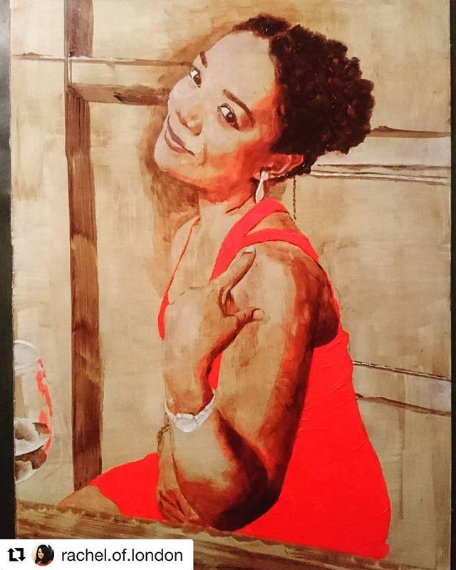 #Repost @rachel.of.london (@get_repost) ・・・ Work in progress, underpainting in acrylics complete, oils still to do. #acrylicpainting #paintingonaluminium #portraitpainting #neolucida #neon