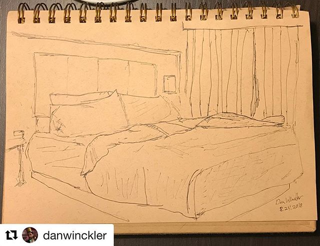#Repost @danwinckler (@get_repost) ・・・ Hotel bed #drawing everyday #neolucida #neolucidaxl