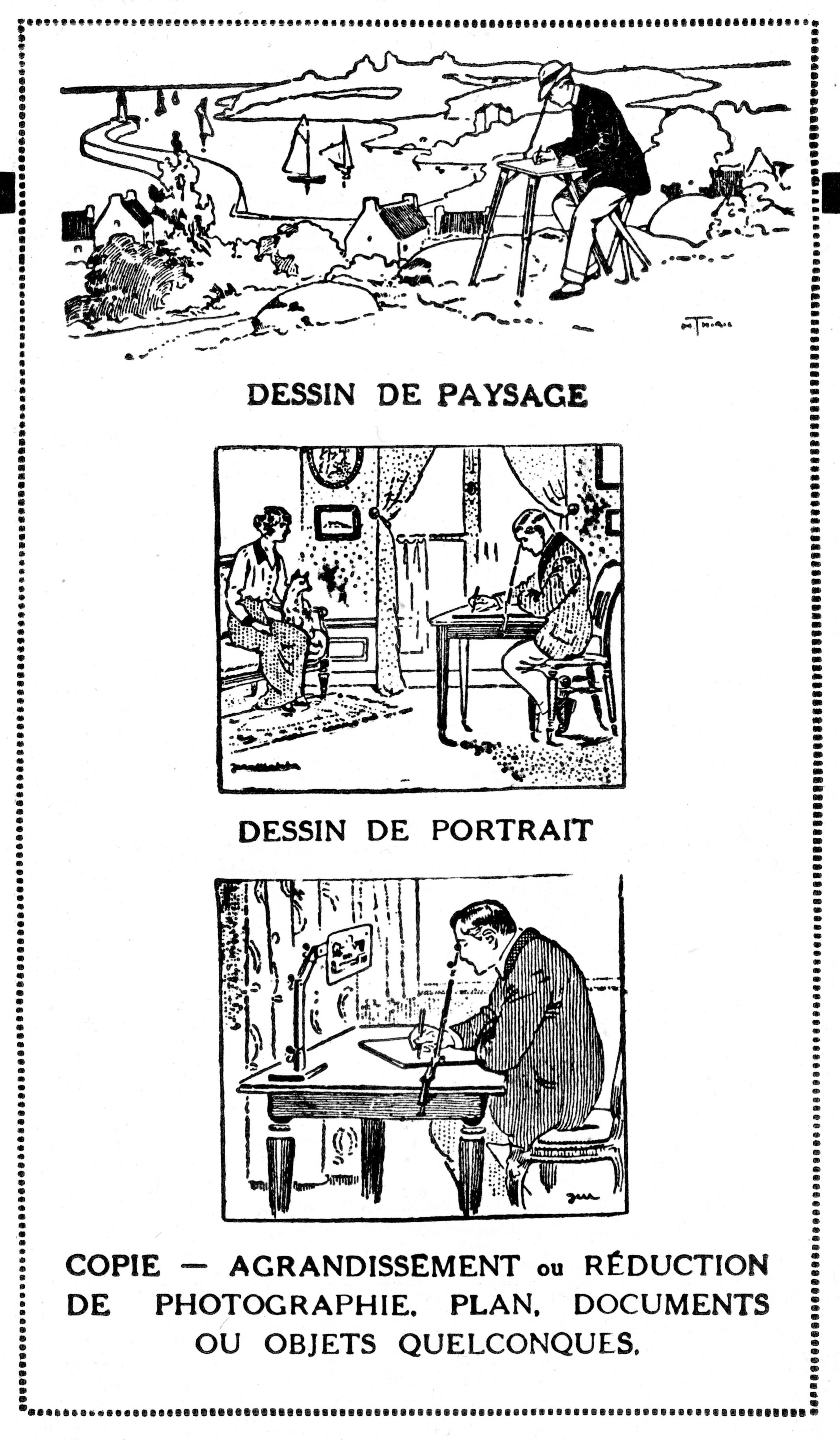Chambre Claire Universelle, advertisement (1925)