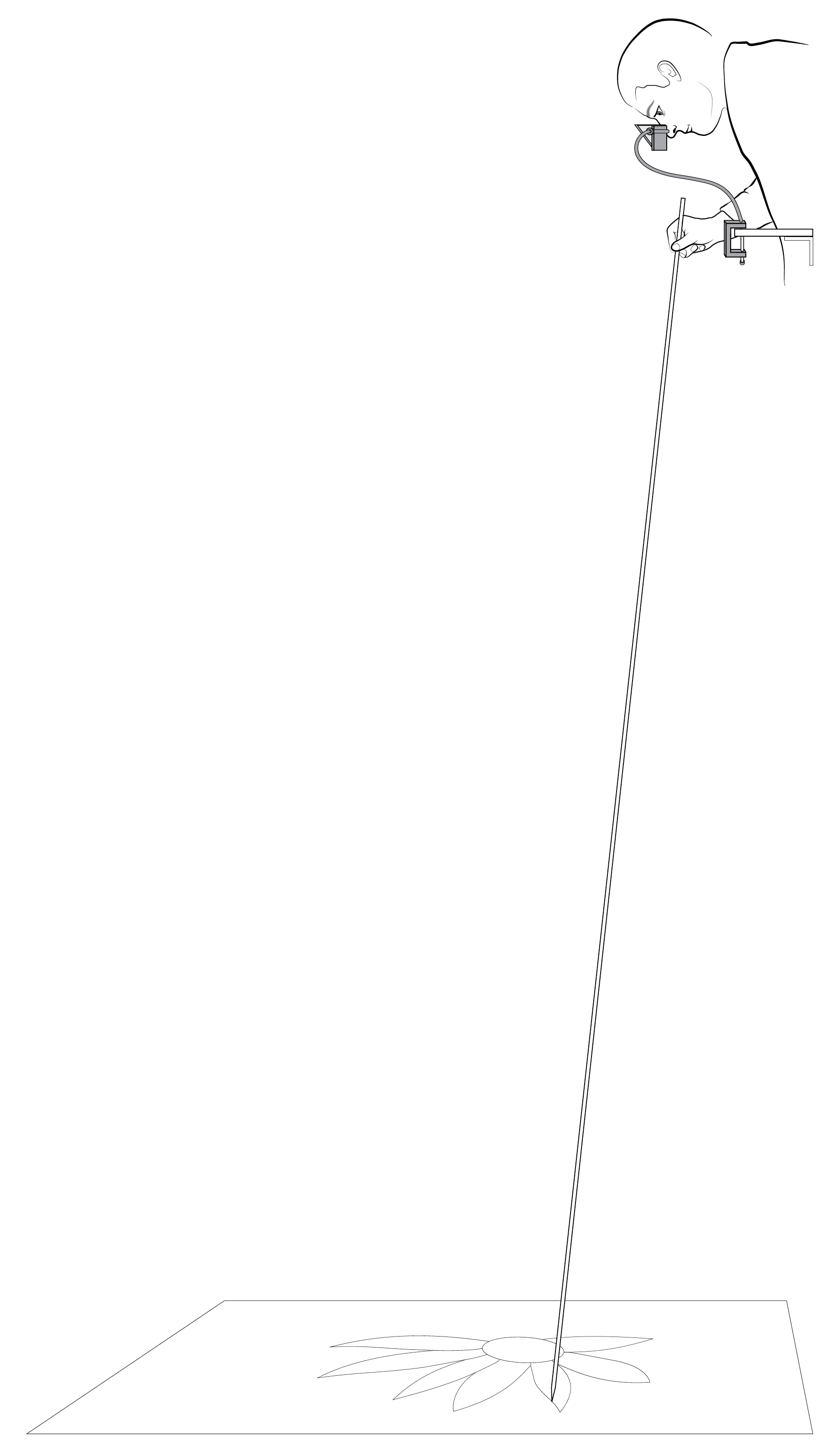 Long pencil = large drawing!
