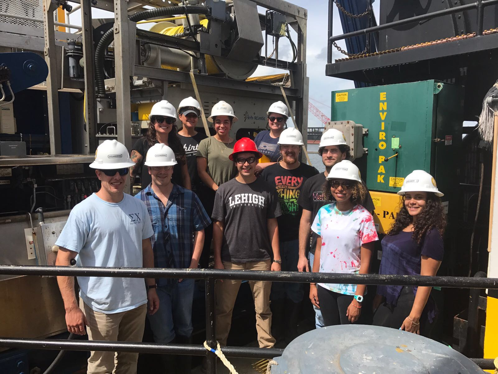 Science team from the first Restore Deepwater Corals cruise including members from Lehigh University, Temple University, Pennsyvania State University, Harvey Mudd College, and NOAA.