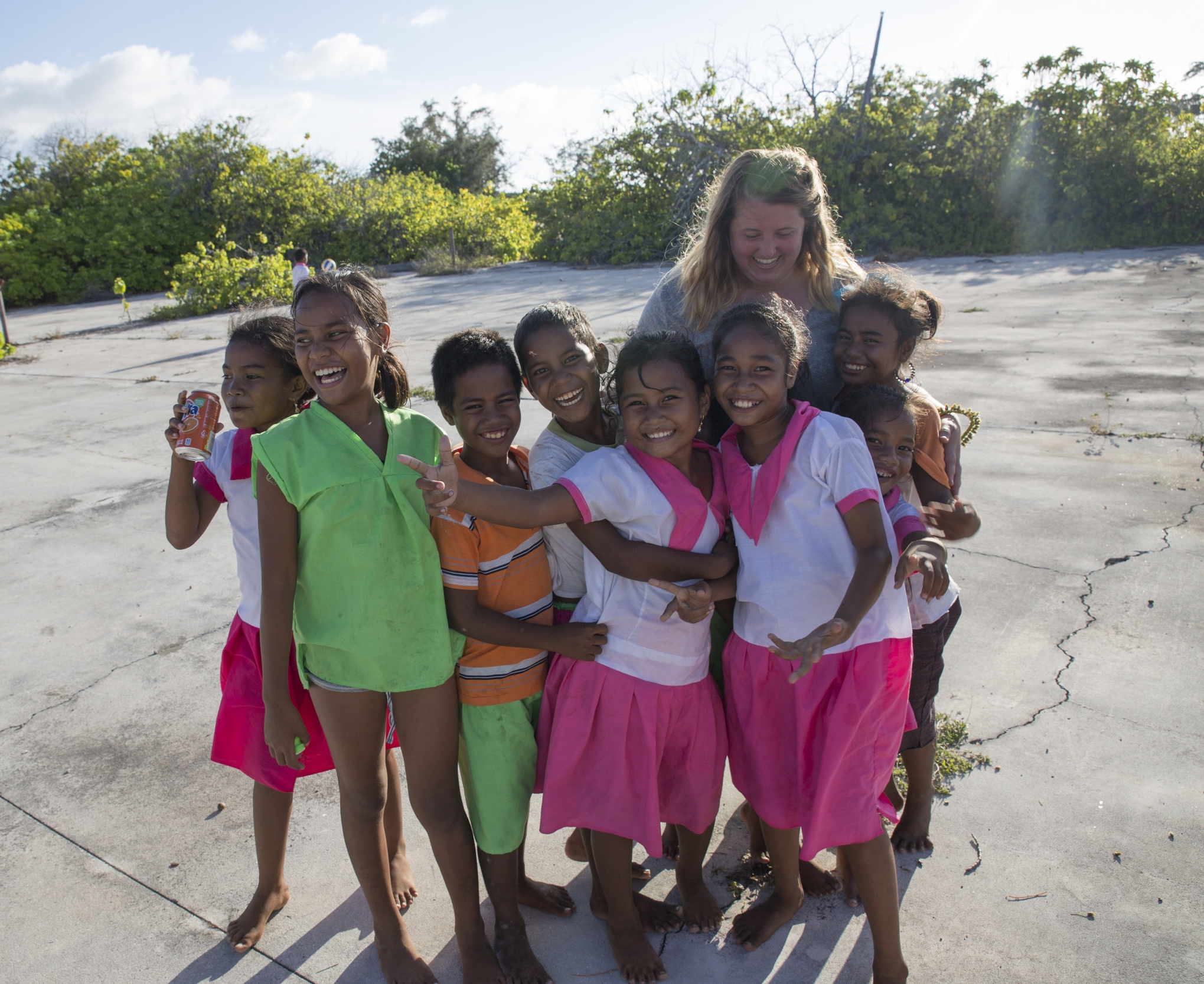 Hanging out with the wonderful children on Kanton Island