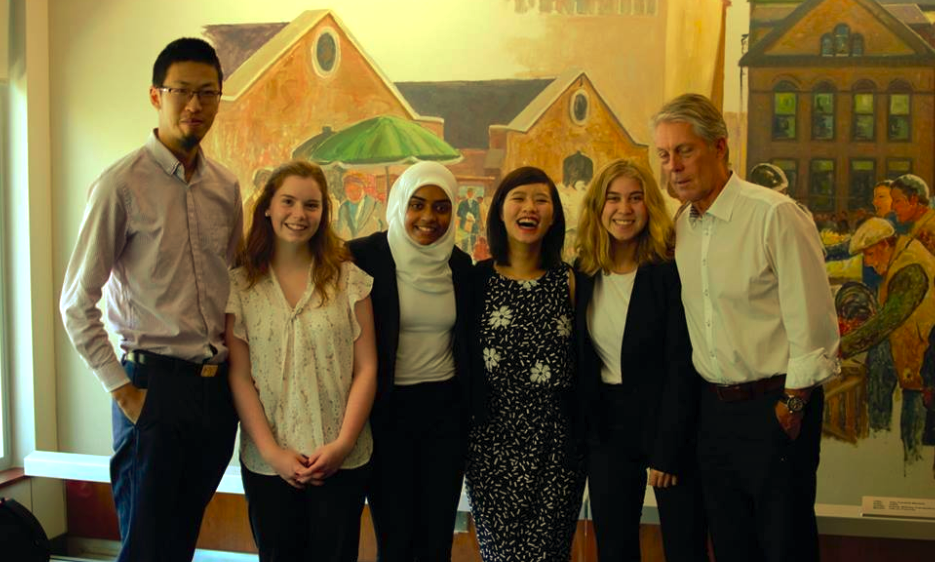 Human Practices members meet with Mayor of Hamilton Fred Eisenberger.