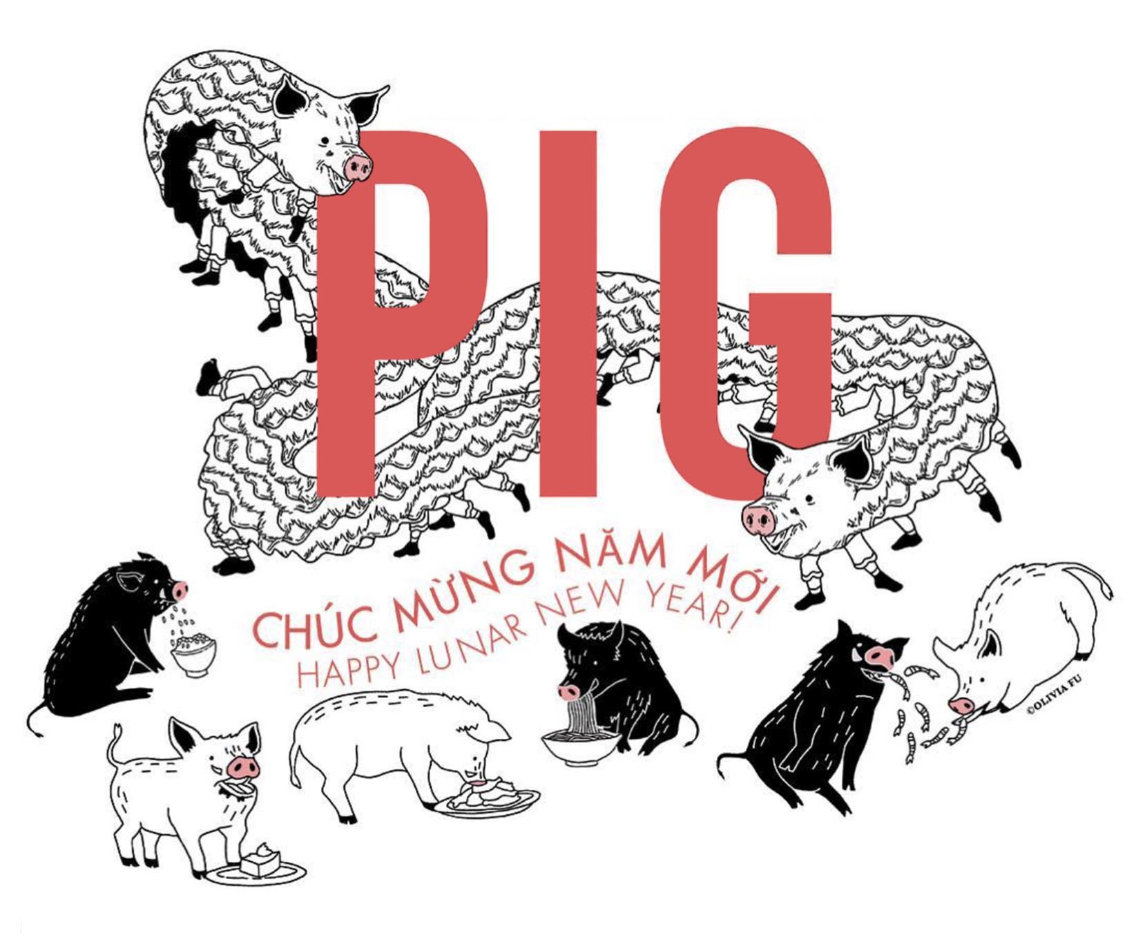 The Pig and The Lady  , Honolulu, HI, T-Shirt Design