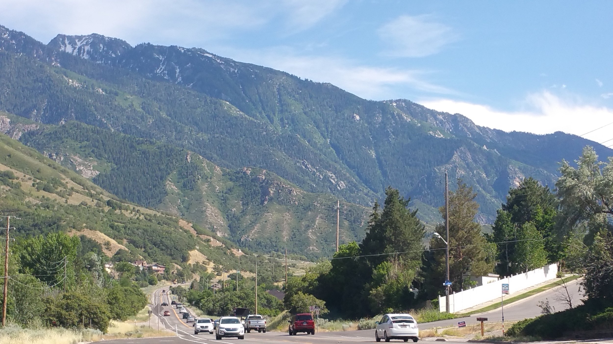 View south along Wasatch Boulevard to Little Cottonwood Canyon