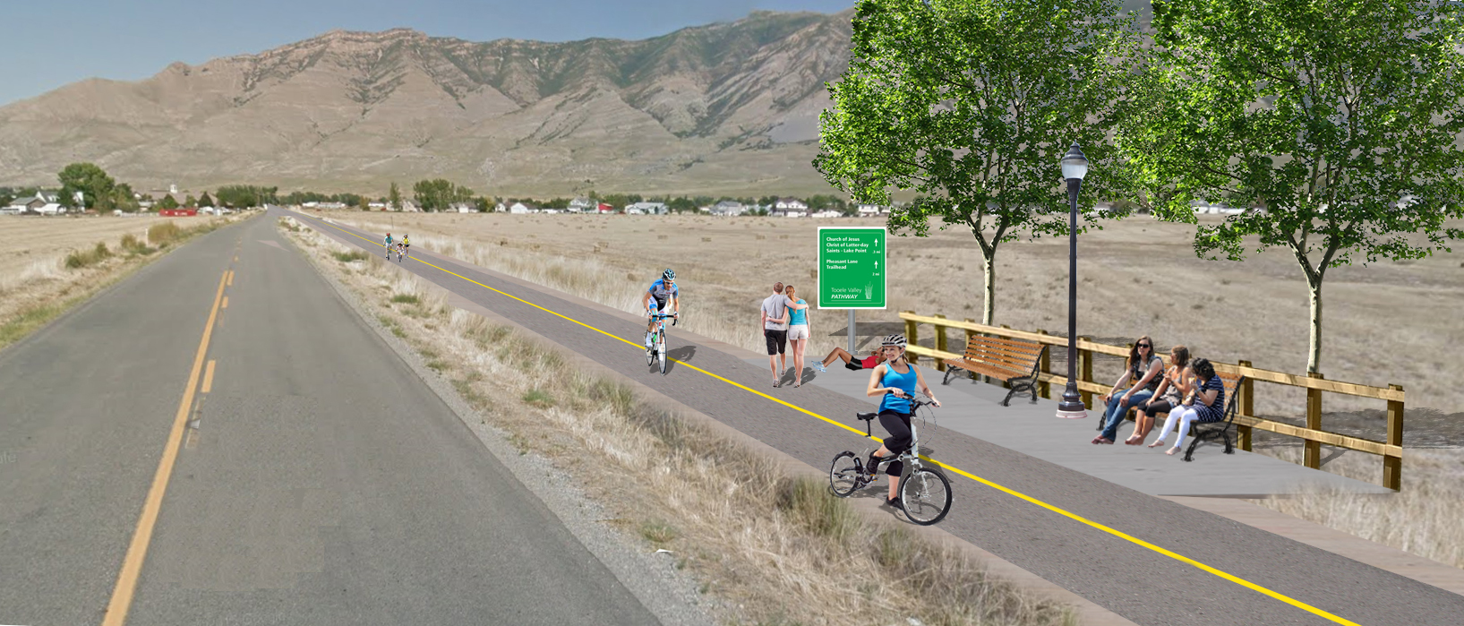 Photosimulation of Tooele Valley Pathway in Lake Point