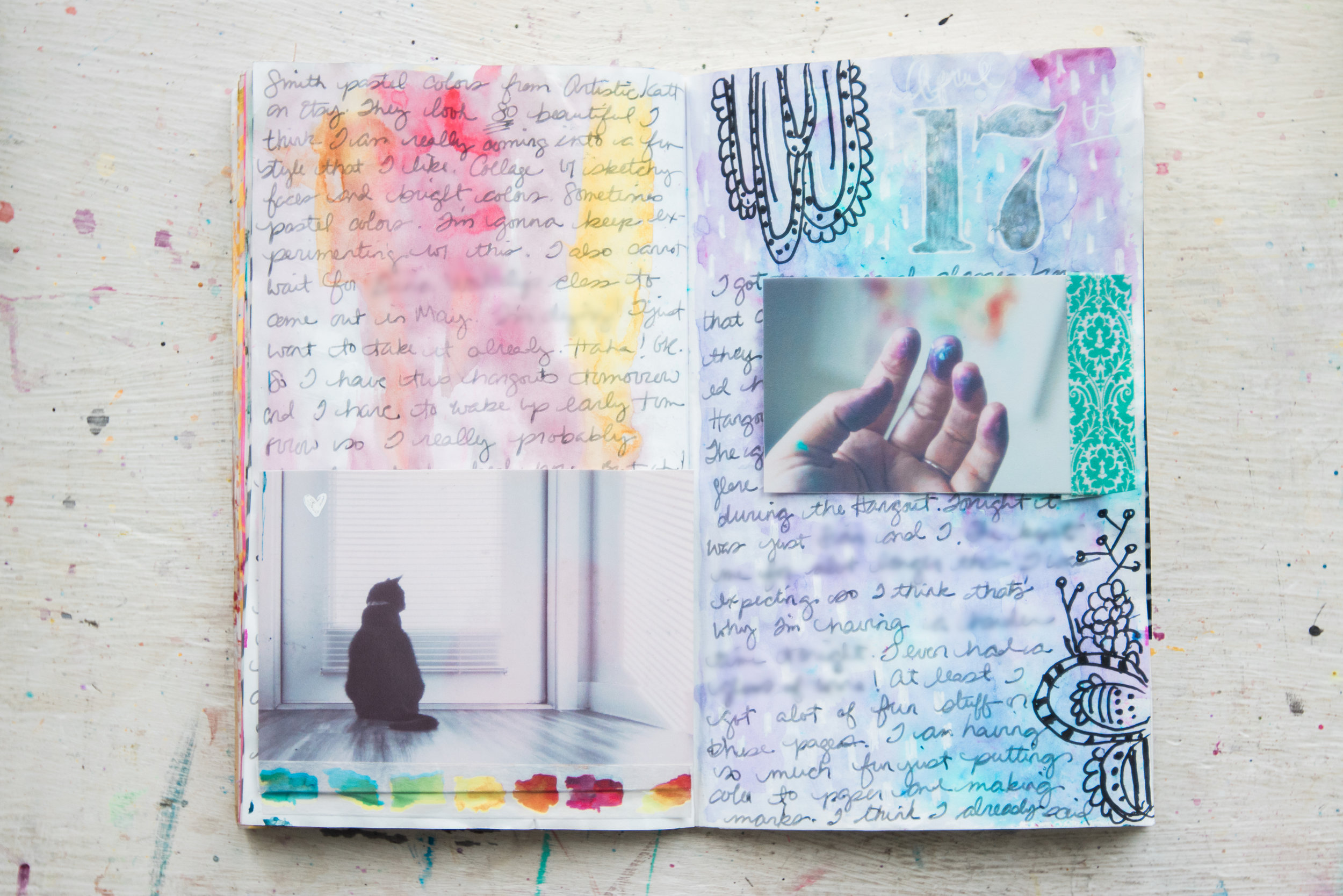 See the prep for this page in  Journal With Me Bundle: Pack 1 .