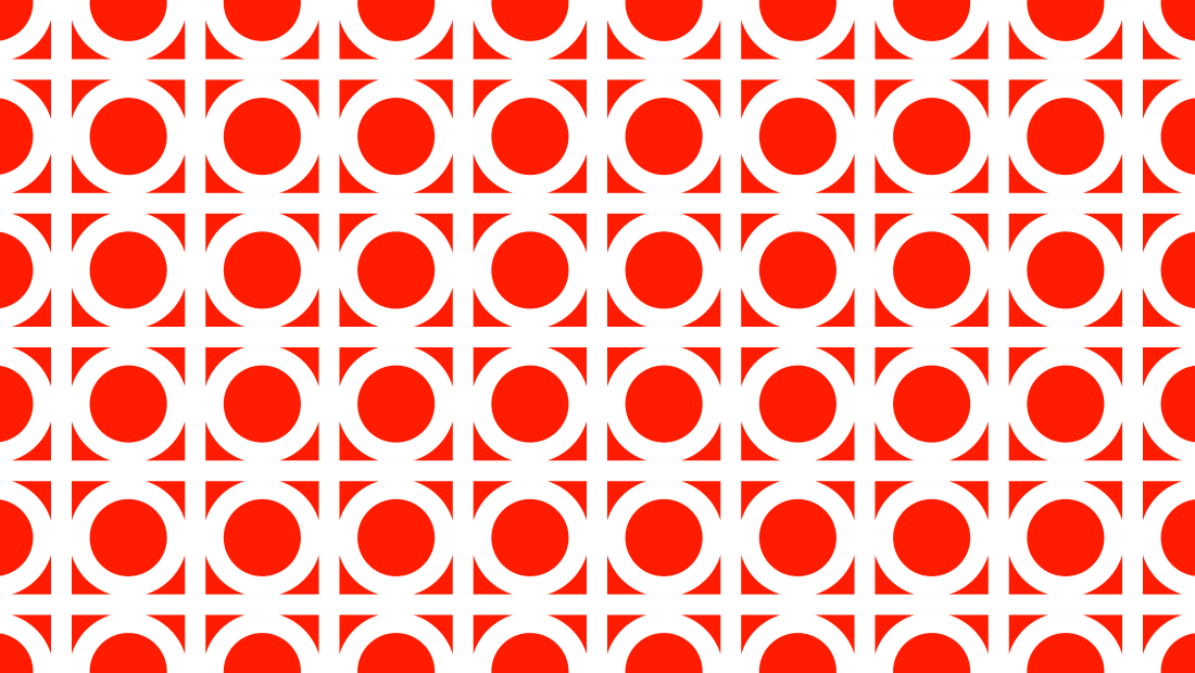 The Square Peg logo mark as a retro repeating pattern from Insomniac Studios.