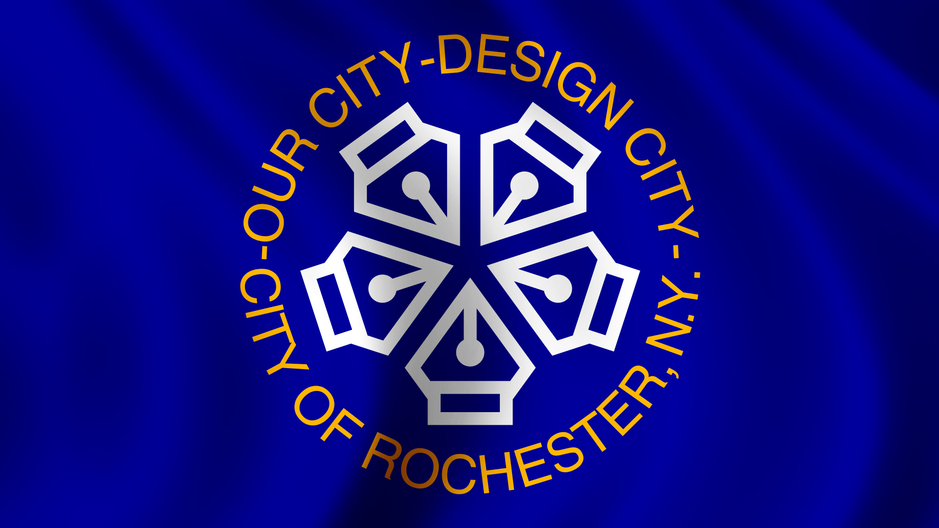 A design twist on the Rochester, New York, flag.