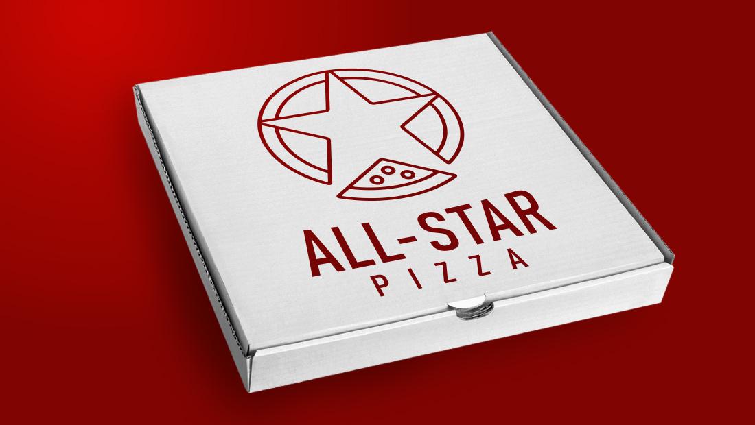 All-Star Pizza box design by Insomniac Studios.