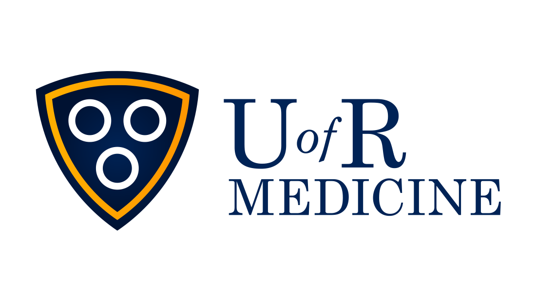 The new redesigned University of Rochester Medicine logo. Here, the standard U of R logo is adapted for the hospital and medical services identity system. This logo is part of a U of R rebranding project by graphic design and marketing services company Insomniac Studios in Rochester, NY. Copyright 2017.