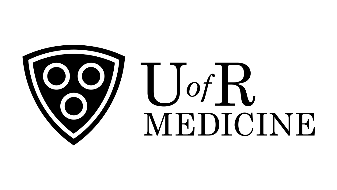 The U of R Medicine logo in black and white by Insomniac Studios in Rochester, NY. Copyright 2017.
