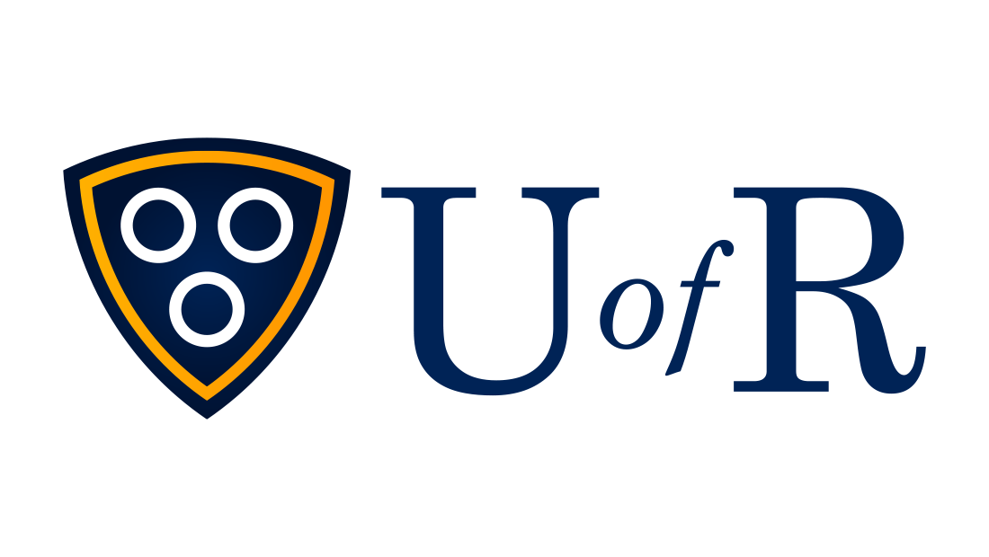 The University of Rochester (U of R) logo identity and brand system. Logo design from Rochester marketing company Insomniac Studios. Copyright, 2017.