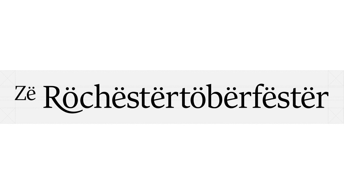 Rochester, NY, Oktoberfest logo architecture design by creative marketing agency Insomniac Studios.