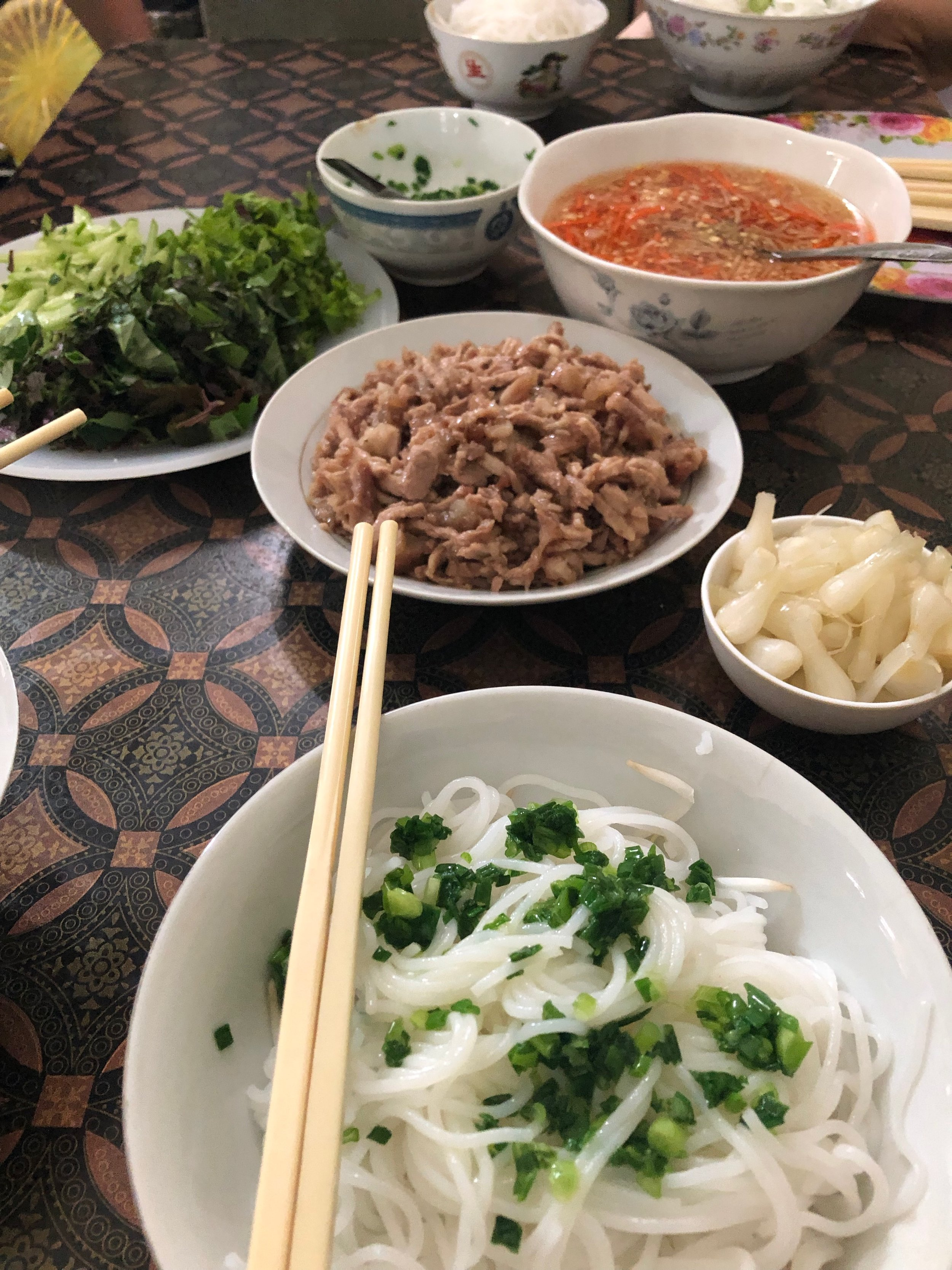 Bun ram - Caramelized pork with noodles