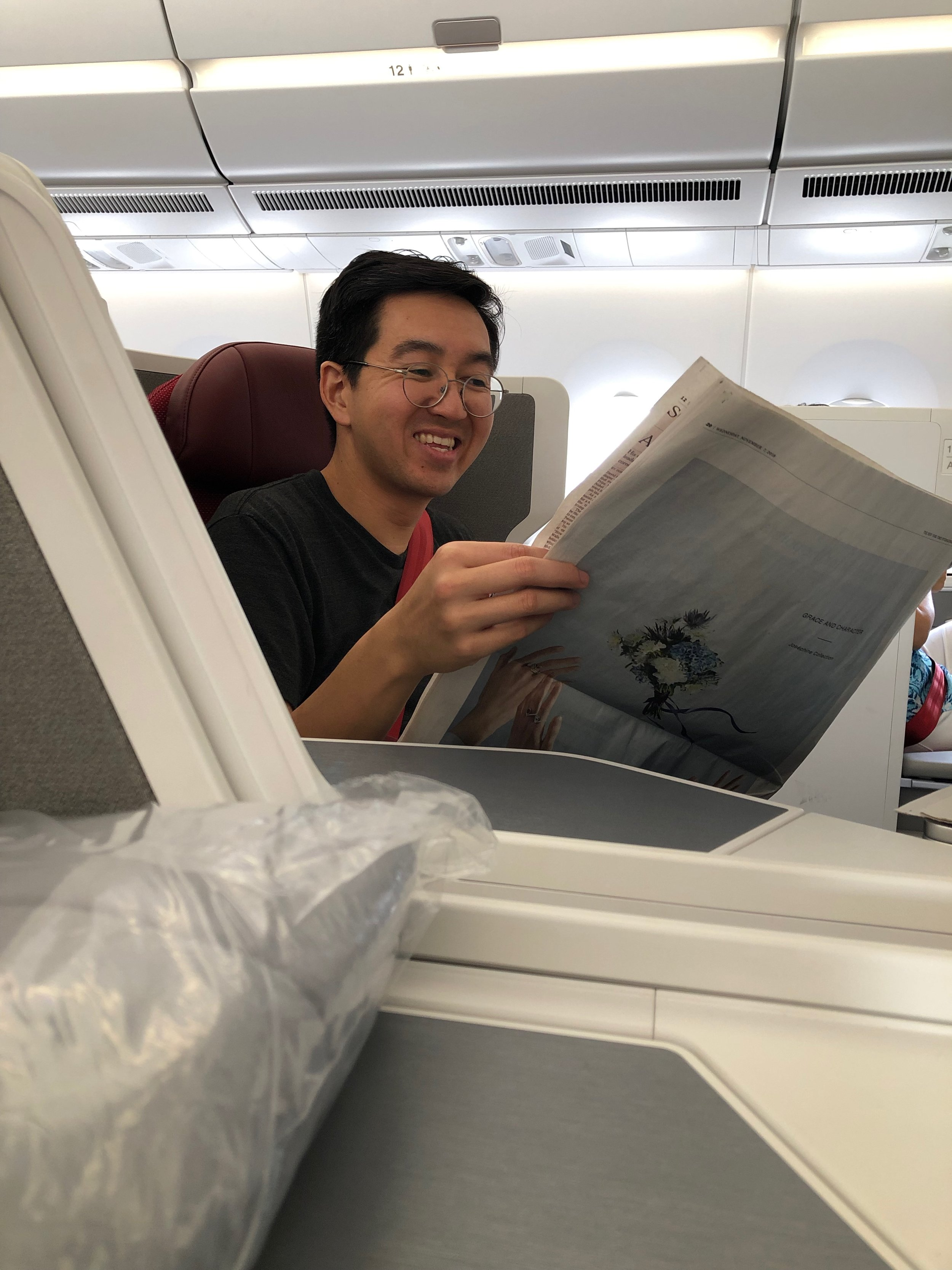 Business class on Hong Kong Airlines
